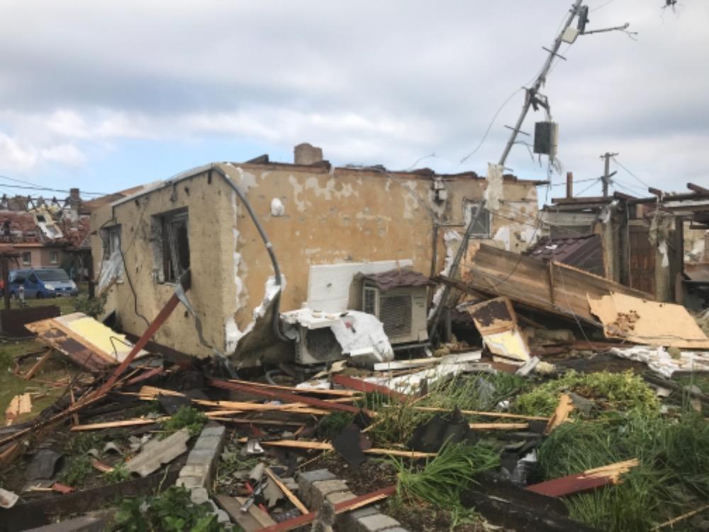 zničený dům 1